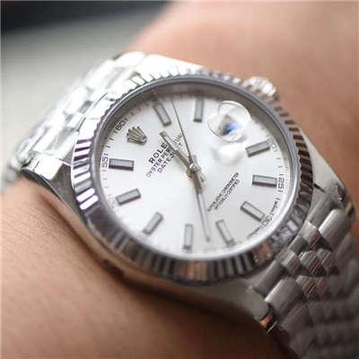 【N厂一比一高仿手表】劳力士日志型系列116334 白盘腕表