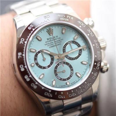 【N厂一比一超A高仿手表】劳力士宇宙计型迪通拿系列116506-78596冰蓝盘棕色计时外圈腕表