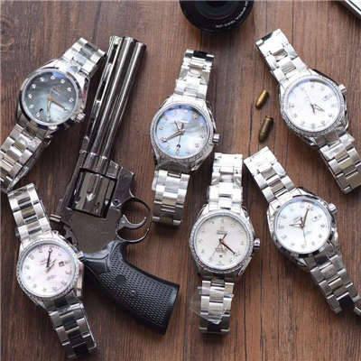 【台湾厂一比一超A高仿手表】欧米茄海马系列231.15.34.20.57.001女士机械腕表集合