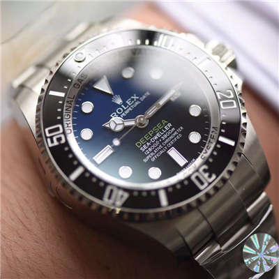 【AR厂顶级复刻手表】劳力士海使型系列116660-98210 蓝盘腕表(904钢渐变蓝鬼王)