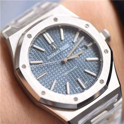 【视频测评JF厂顶级复刻手表】爱彼皇家橡树系列15400ST.OO.1220ST.03《蓝面》男表