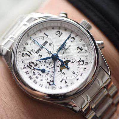 【视频评测YL工厂超A1:1复刻手表】浪琴名匠专柜最新款 L2.773.4.78.6月相男表(自动锤L678.2刻字)