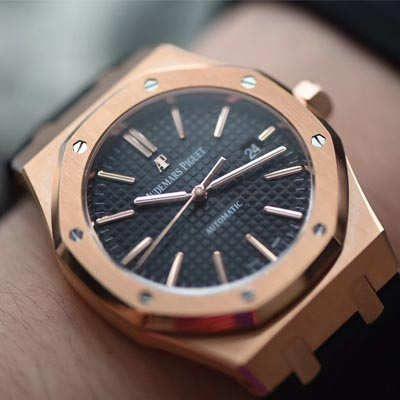 【JF厂1:1复刻手表】爱彼皇家橡树系列15400OR.OO.D002CR.01腕表《真皮表带款》