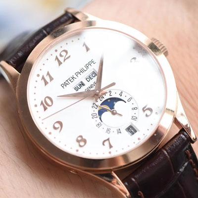 【台湾厂顶级复刻手表】百达翡丽复杂功能计时系列5396R-012月相腕表