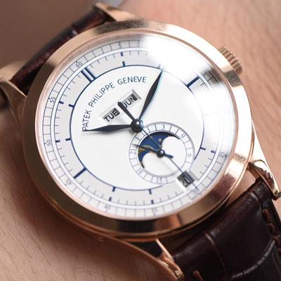 【台湾厂一比一超A高仿手表】百达翡丽复杂功能计时系列5396G 玫瑰金男表价格报价