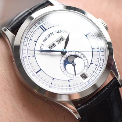 【台湾厂一比一超A精仿手表】百达翡丽复杂功能计时系列5396G 白金男表价格报价