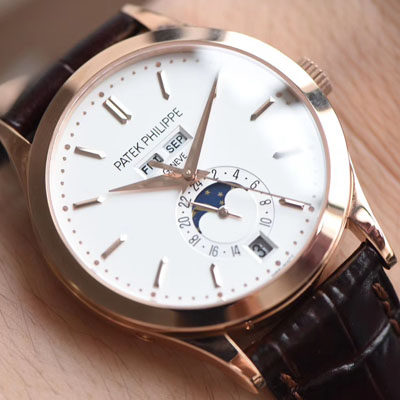 【台湾厂一比一顶级复刻手表】百达翡丽复杂功能计时系列5396R 玫瑰金腕表