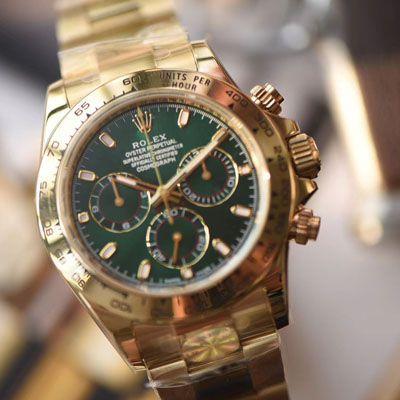劳力士宇宙计型迪通拿系列116508绿盘男士机械腕表【AR一比一高仿手表】