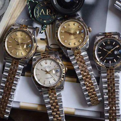 劳力士日志型系列116233银盘纪念型表带腕表,116233金盘镶钻,116233黑盘纪念表带,m126233-0015【AR厂一比一复刻手表】