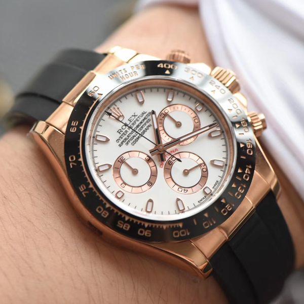 【N厂一比一超A高仿手表】劳力士宇宙计型迪通拿系列M116515ln-0014腕表、116515LN-L(FC) 象牙色腕表