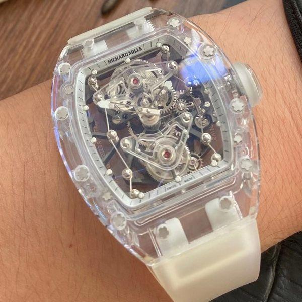 EUR 厂超级雪琉璃理查德米勒RM056,RM 56-02陀飞轮复刻手表