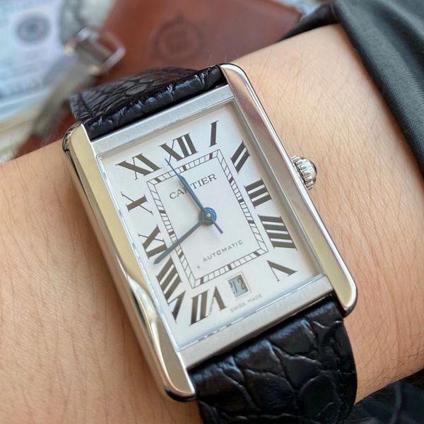 V9厂卡地亚坦克超A高仿手表W5200027腕表