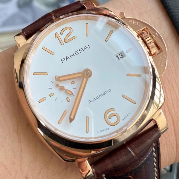 VS厂沛纳海PAM1042一比一超A精仿手表LUMINOR DUE小红金PAM01042腕表