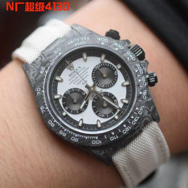 独家视频评测N厂超级碳纤维4130迪通拿一比一复刻diw团队定制版迪通拿腕表
