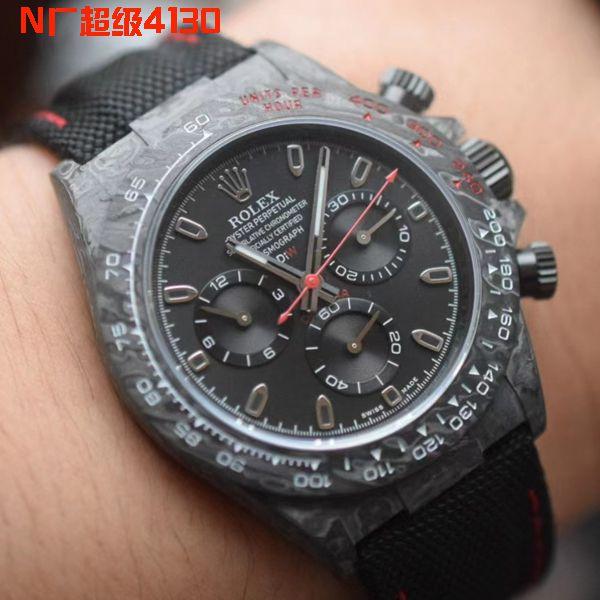 视频评测N厂超级4130劳力士迪通拿DIW团队碳纤维迪通拿腕表