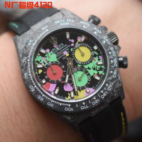视频评测N厂4130超级碳纤维迪通拿DIW团队定制劳力士迪通拿腕表